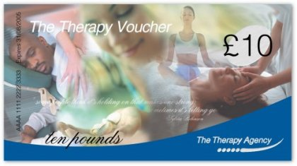 A range of professional Therapy Vouchers